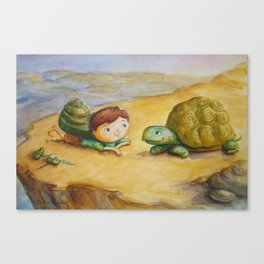 """Shelled Synchronicity"" Canvas Print"
