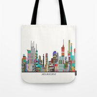 melbourne Tote Bags featuring Melbourne by bri.buckley