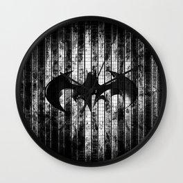 Bat in the shadow Wall Clock