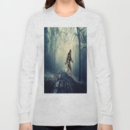 Misty Railway Bigfoot Crossing Long Sleeve T-shirt
