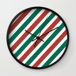 Holiday Stripes Wall Clock