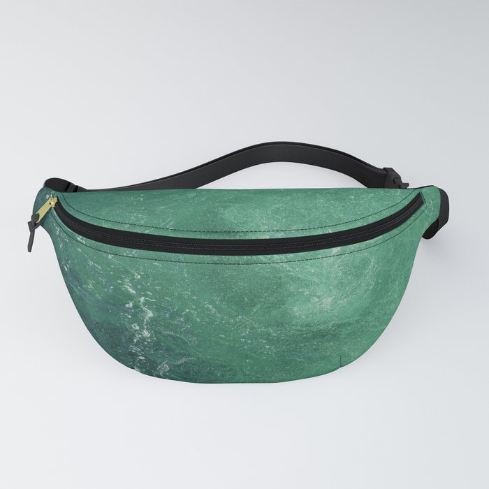 Green marble Fanny Pack