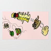 netflix Area & Throw Rugs featuring Basquiat Netflix by alexSHARKE