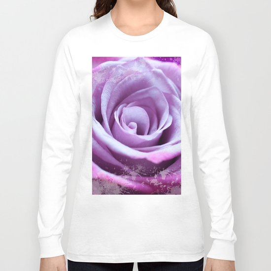 Rose of Love #Pink #Purple #art #society6 Long Sleeve T-shirt