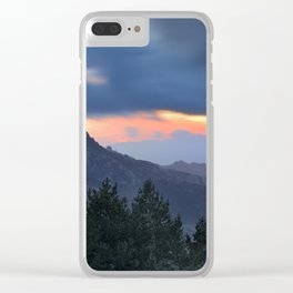 Dream sunset. At the mountains... Clear iPhone Case