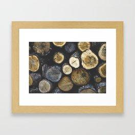 Stacked wood Framed Art Print