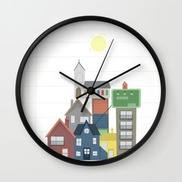 House Stack Wall Clock
