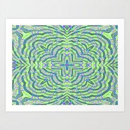 Crazy Green Art Print