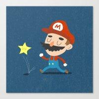 mario Canvas Prints featuring Mario by Rod Perich