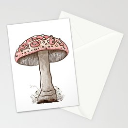 Amanita Muscaria Mushroom Stationery Cards