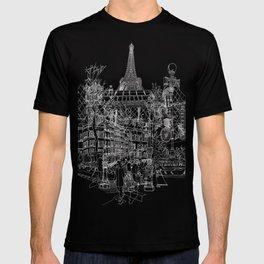 Paris B&W (Dark T-shirt version) T-shirt