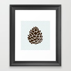 Pinecone Framed Art Print