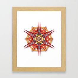 abstract mandala harsh sunlight Framed Art Print