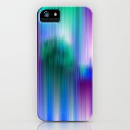 Glitchy Tiles - Abstract Pixel art iPhone Case