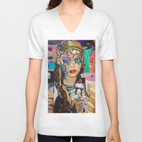 chelsea V-neck T-shirts featuring Chelsea by Katy Hirschfeld