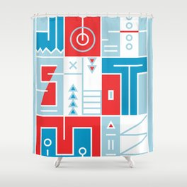 Play on words | Just shoot me Shower Curtain