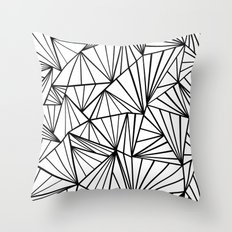 Ab Fan Zoom Invert Throw Pillow