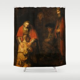 Return of the Prodigal Son, 1663-1665 by Rembrandt van Rijn Shower Curtain