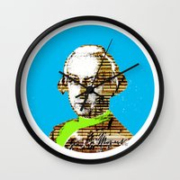 mozart Wall Clocks featuring Mozart Kugel Blue by Marko Köppe