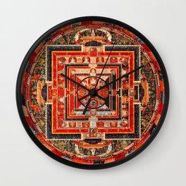 Mandala Buddhist 9 Wall Clock