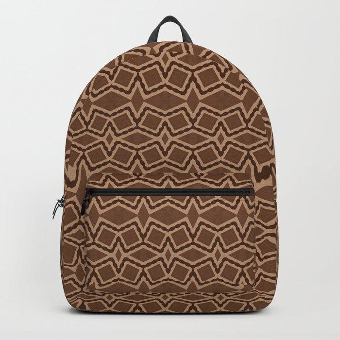 Brown Tilt-A-Block Backpack