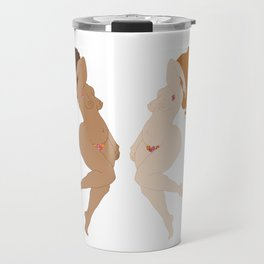 Digita illustration drawing girl power body positive Travel Mug