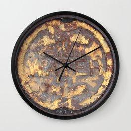 Yellow Curve Wall Clock