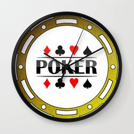 Gold Poker Chip for the Pro's Wall Clock