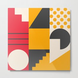 Abstract Geometric Composition 004 Metal Print