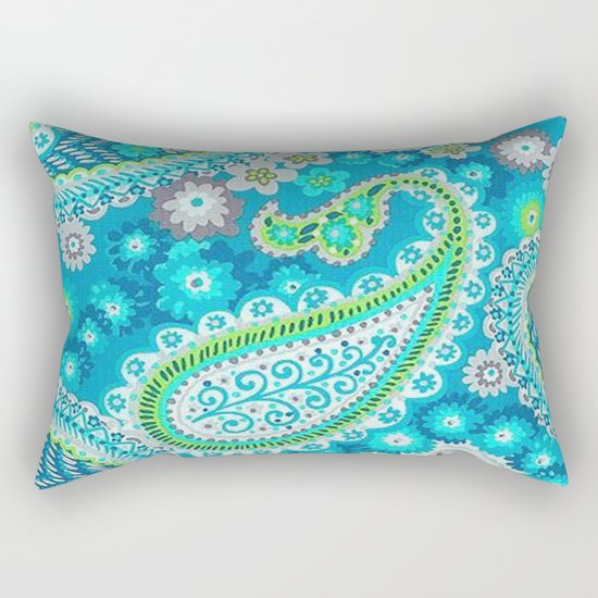 Floral Paisley Pattern 02 Rectangular Pillow