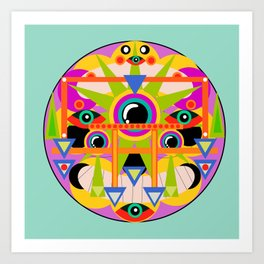Psychedelic Abstract Experience Art Print