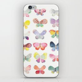 Painted butterflies iPhone Skin