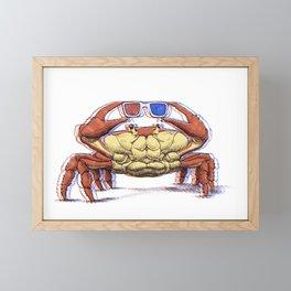 3D Crab Framed Mini Art Print