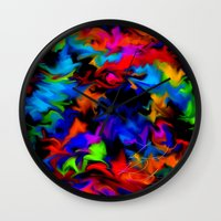 psychedelic Wall Clocks featuring Psychedelic  by Lord Rukaj