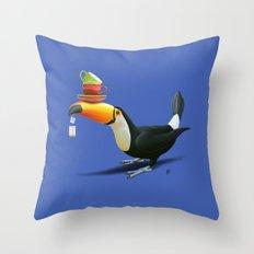 Tea for Tou (Colour) Throw Pillow