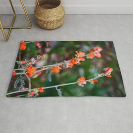 Romantic Desert Globemallow Flowers Rug