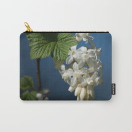 Understated Luminary      White Flowering Currant Bloom Carry-All Pouch