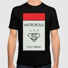Metropolis Monopoly Location MEDIUM Black Mens Fitted Tee