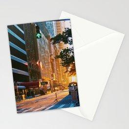 Manhattan at Sunrise on Thanksgiving Stationery Cards