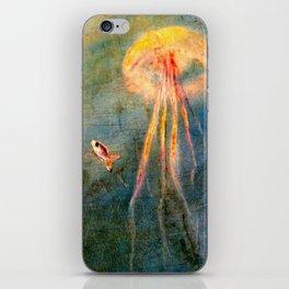 Glow of the jellyfish iPhone Skin