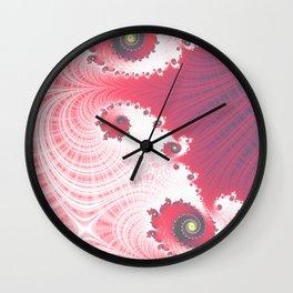 Strawberry Cream - Fractal Art Wall Clock