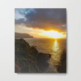 Sunset in Princeville, Kauai, Hawaii Metal Print