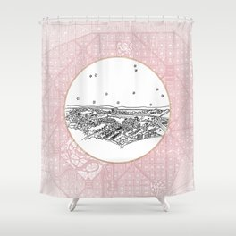 Belo Horizonte, Brazil City Skyline Shower Curtain