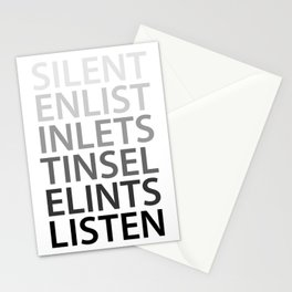 Silent Listen Stationery Cards