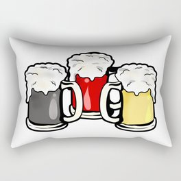 Beer German Flag Germany Present Gift Rectangular Pillow
