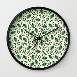 Lush Greens Wall Clock