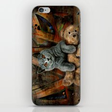 Cat Diesel with teddybear ! iPhone & iPod Skin
