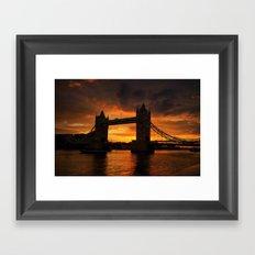 Tower Bridge Sunset. Framed Art Print