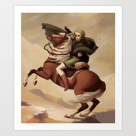 The Hero Crossing Death Mountain Art Print