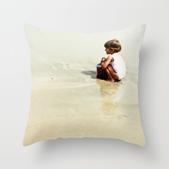 Found in the sea Throw Pillow